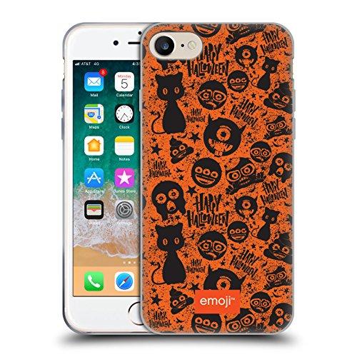 Head Case Designs Oficial Emoji Gato Negro Patrones de Halloween Carcasa de Gel de Silicona Compatible con Apple iPhone 7 / iPhone 8 / iPhone SE 2020