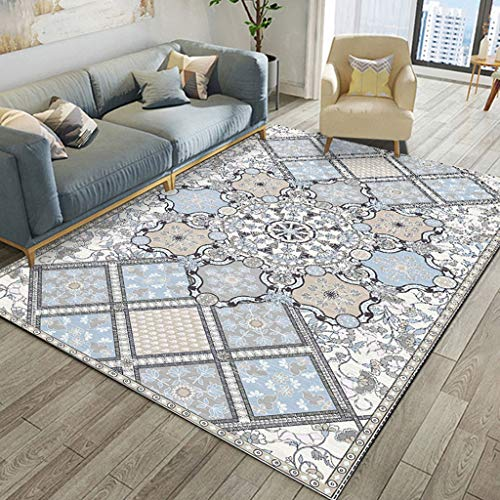 Jlxl klassiek tapijt met driehoekig design voor slaapkamer keuken antislip tapijt 80 x 160 cm