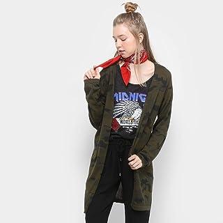 Cardigan Drezzup Camuflado Feminino - Verde Militar - Ep