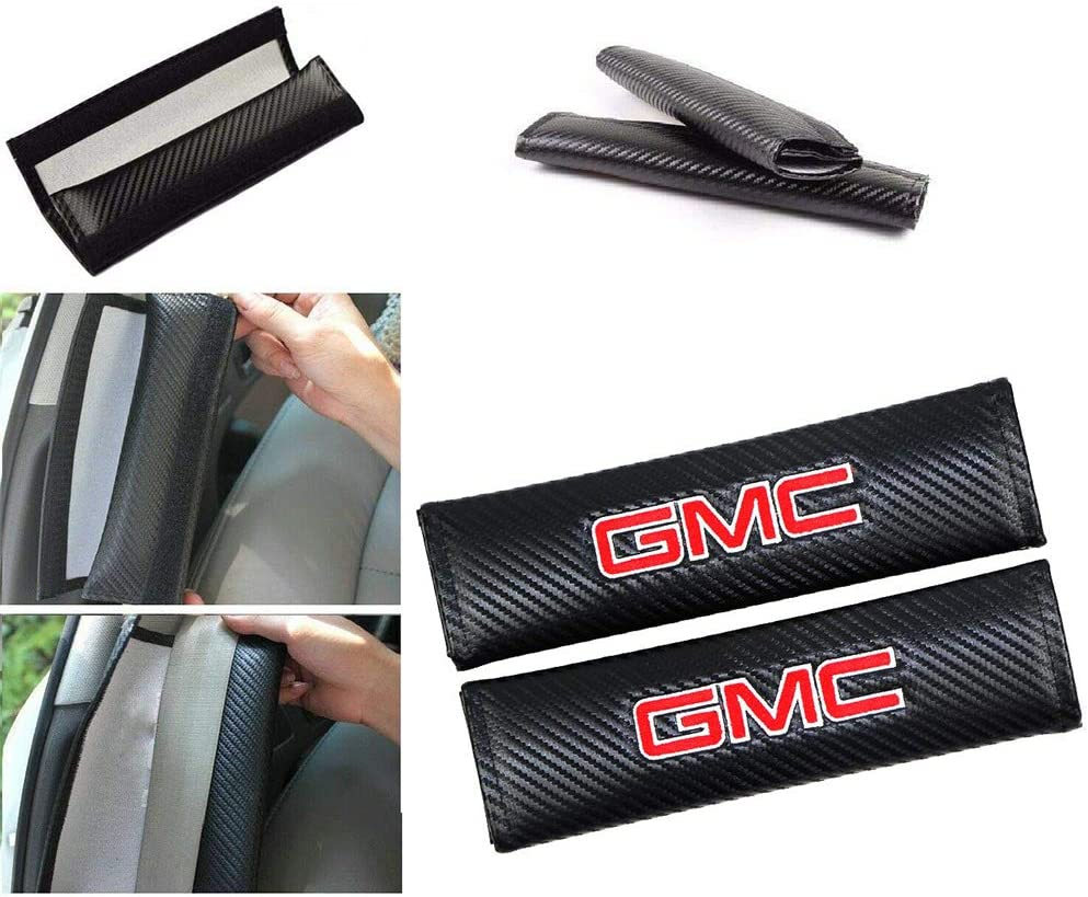 Car Sales Discount mail order Fit GMC Factory outlet Seat Belts Padding Lea Fiber Carbon Covers
