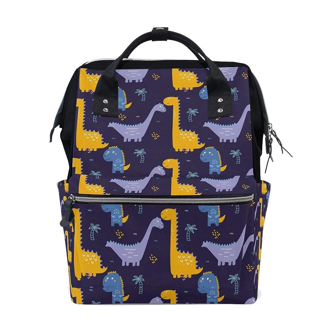 Cute Cartoon Dinosaurs School Backpack Large Capacity Mummy Bags Laptop Handbag Casual Travel Rucksack Satchel For Women Men Adult Teen Children
