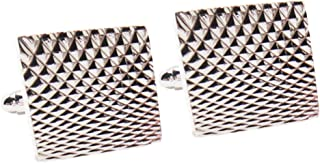IPOTCH 1 Pair Men's Classic Copper Metal Geometric Cufflinks