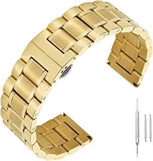 14mm 16mm 17mm 18mm 19mm 21mm 22mm 23mm 24mm Watch Band Stainless Steel Band Solid Replacement Straps