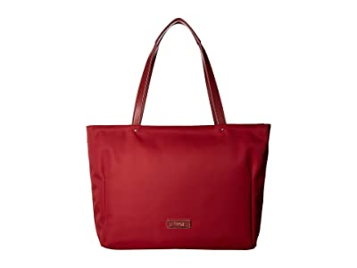 Lipault Paris Business Avenue Laptop Tote Bag (Garnet Red) Tote Handbags