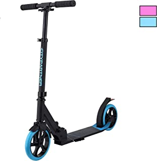 DaddyChild Kick Scooters for Adults Teens, Quick-Release Folding System, Front Suspension System, Scooter Shoulder Strap ...