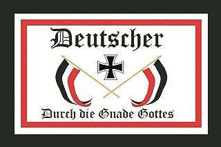 Schatzmix Blechschild Deutscher durch die Gnade Gottes Metallschild 20x30 cm Wanddeko Tin-Plate Sign, Multicoloured