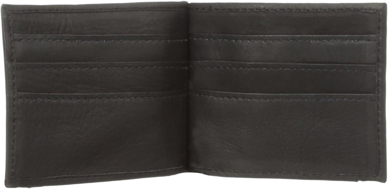Piel Leather Bi-Fold Money Clip Wallet, Black, One Size