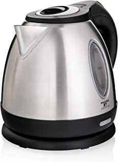 Moss & Stone Rapid Boil Electric Kettle, Cordless Pot 1.2L Portable Electric Hot Water Kettle, 1500W Strong d Tea Kettle (Stainless Steel)