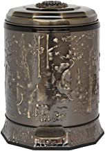 LONGren Steel Step Trash Can Wastebasket, Trash Can with Lid Soft Close, Garbage Container Bin for Bathroom, Powder Room, ...