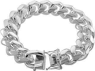 heavy silver bracelet mens