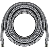 Certified Appliance Accessories Ice Maker Water Line, 15 Feet, PVC Core with Premium Braided Stainless Steel