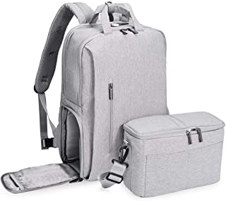 Comfortable Running Knapsack Business Laptop Bag Outdoor Camera Backpack (Color : Gray, Size : S)