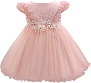 Zhuhaitf 高品質 Newborn Baby Girls Dress Flower Princess Formal Party Wedding Bridesmaid Tulle ドレス for 0-24 Months