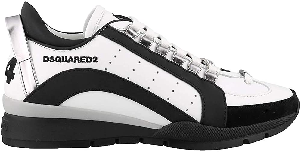 Dsquared2 sneakers ,scarpe sportive per uomo, in pelle e camoscio 551