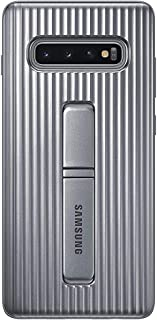 Samsung Official Original Galaxy S10 Series Protective Standing Cover Case with Quickstand for Samsung Galaxy S10e, S10, and S10+ Galaxy S10+ Silver EF-RG975CSEGWW