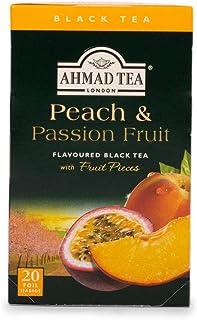 Ahmad Tea Peach & Passion Schwarzer Tee mit Pfirsich und Passionsfrucht-Geschmack 20 Teebeutel mit Band/Tagged, 40g Tee