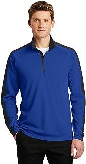 Sport-Tek Men's Sport-Wick Textured 1/4-Zip Pullover