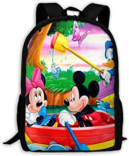 Custom Mickey and Minnie On The Lake Casual Backpack School Bag Travel Daypack Gift