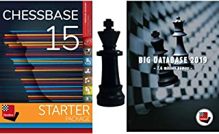 ChessBase 15 - Starter Package: ChessBase 15 Chess Database Management Software Program bundled with Big Database 2019 and ChessCentral's Chess King Flash Drive