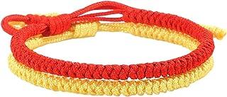 WLBHB. 手作りブレスレット弾性ブレスレット手作りロープ編みこみブレスレットピュアカラーアジャスタブルカップルブレスレットメンズとレディースのウィッシュジュエリーのセット (Metal Color : 2)