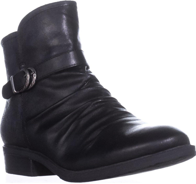 BareTraps Ysidora Flat Comfort Ankle Boots, Black, 7 US