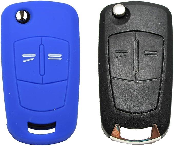 1x Autoschlüsselhülle Silikonhülle Opel 2 Tasten Fernbedienung Schlüsselhülle Key Cover Schutzüberzug Klappschlüssel Gehäuse Tasche Silikoncover Vw Grün 3 Tasten Neu Auto