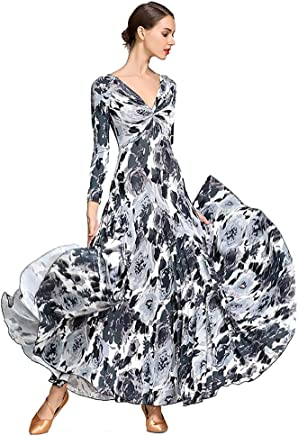 Women's Dance skirt Dresses Flexible Stage Costumes Elegant Party Competition Dress