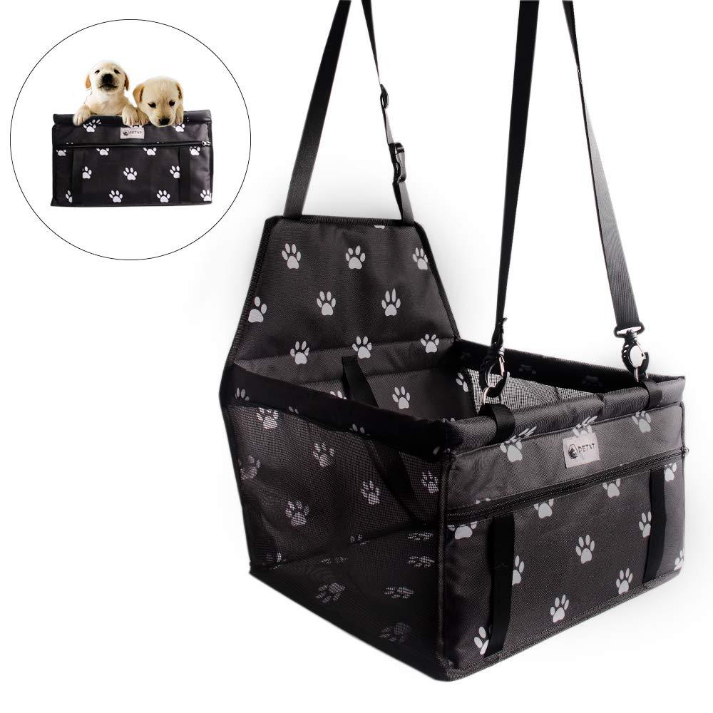 Asiento de Coche para Perros y Gatos,Bolsa Resistente al Agua con Seguridad para Viaje de Mascotas (Negro1): Amazon.es: Productos para mascotas