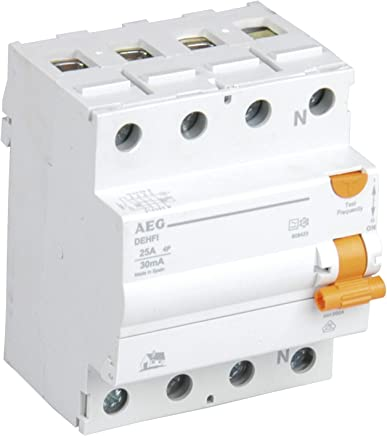 AEG AUN608455 32 A, 30 mA, Tipo CA Interruptor diferencial