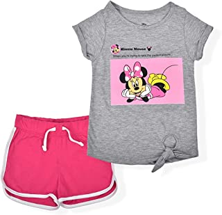 Disney Minnie Mouse Girl's 2-Piece Perfect Picture Shorts and Graphic Tee Shirt Set