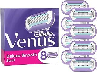 Gillette Venus Deluxe Smooth Swirl scheermesjes voor dames, set van 8, 5 duurzame messen voor een bijzonder lang aanhouden...
