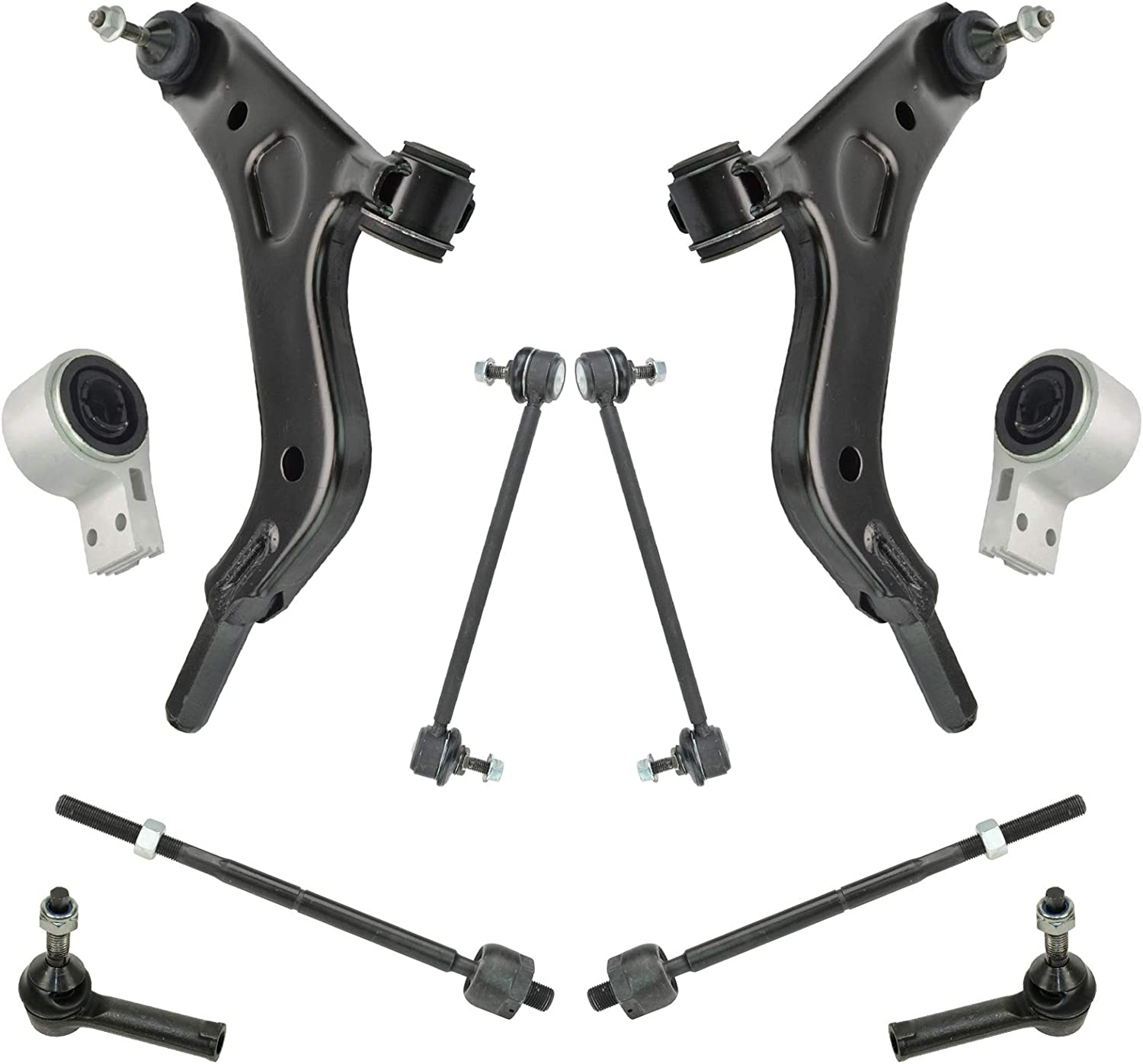 8 Piece quality assurance Steering Suspension Kit Control Ti Ball with Arms A surprise price is realized Joints