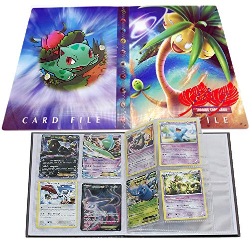 Card Album for Pokemon, Card Holder, Binder Cards Album Book Best Protection Trading Cards /GX EX Box/Put up to 240 Cards(Bulbasaur) image