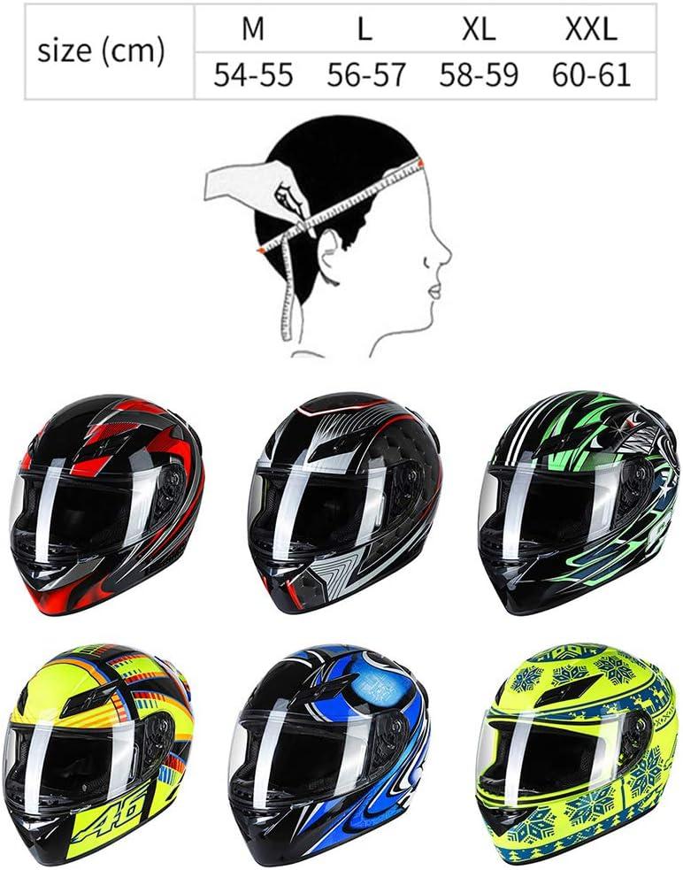 Kkmoon Integralhelm Helm Motorradhelm Unisex Adult Cool Rider Ausrüstung Vier Jahreszeiten E Bike Helm New Street Touring Motorradhelm Style D Size Xl Gelb Schwarz Auto