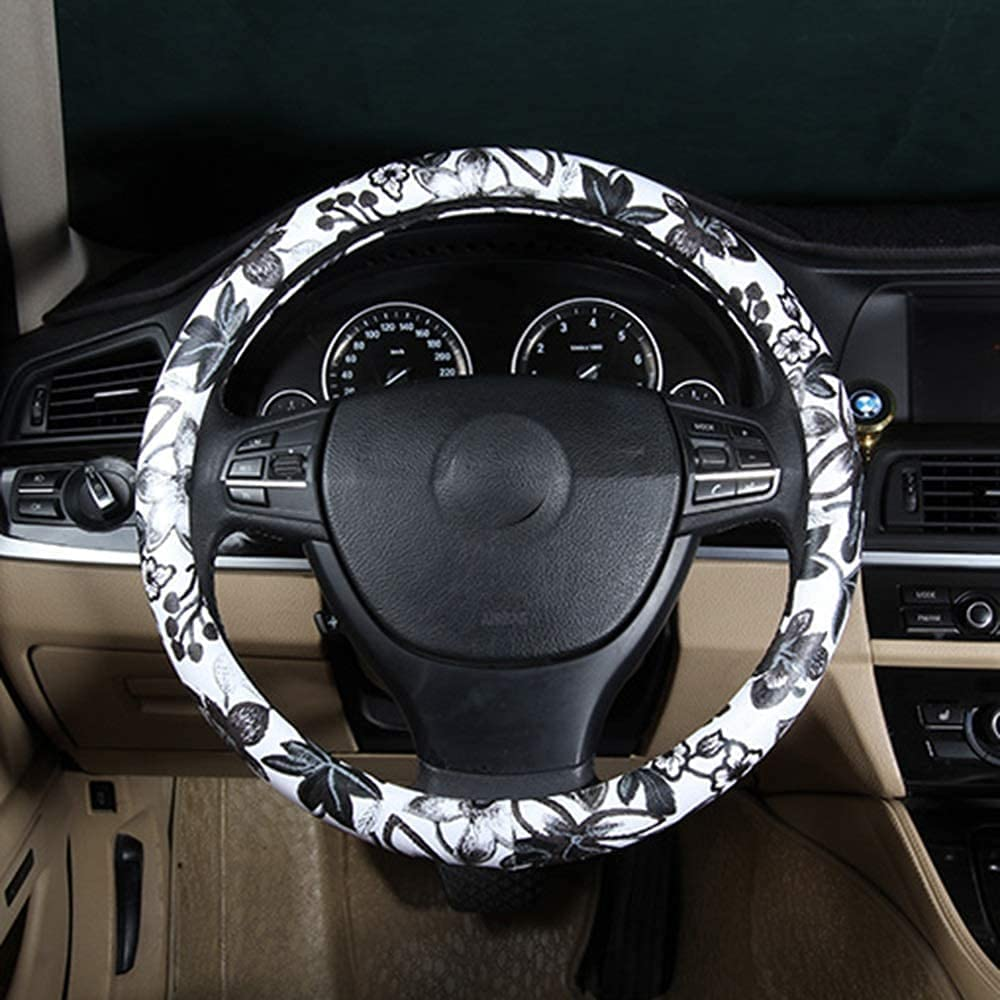 GXJX Steering Award-winning store Wheel Cover and Covers White Tucson Mall Black