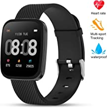 TEZER Smart Watch Fitness Tracker - Activity Tracker with Heart Rate Monitor, IP67 Waterproof Smart Bracelet with Sleep Monitor, Pedometer Smartwatch with Step Calorie Counter for Women Men