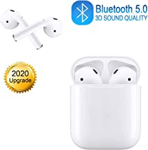 Wireless Earbuds Wireless Bluetooth Earbuds 3D Stereo Headphones ?24H Fast Charging Case? IPX5 Waterproof Sports Headphones Built in Mic in Ear Noise Cancelling Headsets for iPhone/Airpods/Android