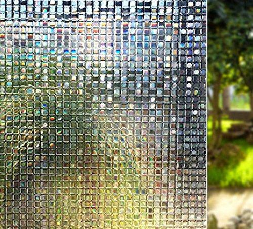 Wuyue Hua - Película de cristal para ventana, sin pegamento, estática, esmerilada, decorativa, estática, adhesiva, diseño de arcoíris, 45 x 200 cm (45 x 200 cm): Amazon.es: Hogar