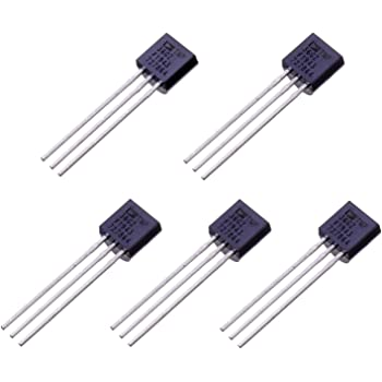 BOJACK TMP36 Temperature Sensors 3 Pin TMP36GZ High Precision Celsius Temperature Sensor (Pack of 5 Pcs)