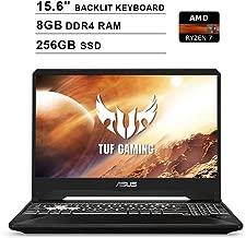 ASUS 2020 TUF 15.6 Inch FHD IPS Gaming Laptop (AMD Ryzen 7 R7-3750H up to 4.0 GHz, 8GB RAM, 256GB SSD, NVIDIA GeForce GTX 1650, RGB Backlit Keyboard, Bluetooth, WiFi, HDMI, Windows 10)