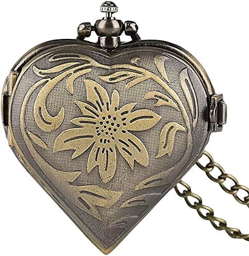 DNGDD Reloj de Bolsillo para Mujer, Reloj de Bolsillo para Hombre, Hermoso Collar de Relojes de Bolsillo Vintage, Regalo de San Valentín para Mujer, práctico Reloj Colgante con Cadena de Serpiente