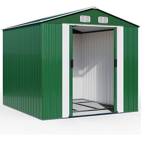 Deuba Abri de Jardin en métal - cabane cabanon Rangement Outils Jardin Bricolage 14,65m³