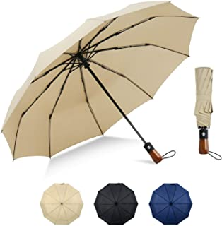 with Automatic Open /& Close Button for Easy Operation Portable /& Lightweight Folding Umbrella Protection from the Sun and Rain SAK Umbrellas Compact Umbrella Windproof Less Than 1 lb