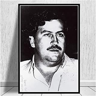 NOBRAND Lienzo De Pintura Grande Pablo Escobar Character Legend Retro Vintage Poster and Prints Painting Wall Art Canvas Wall Pictures Decoración para El Hogar 60X80Cm Sin Marco