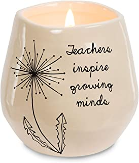 Pavilion Gift Company Teachers Inspire Growing Minds Ceramic Soy Candle