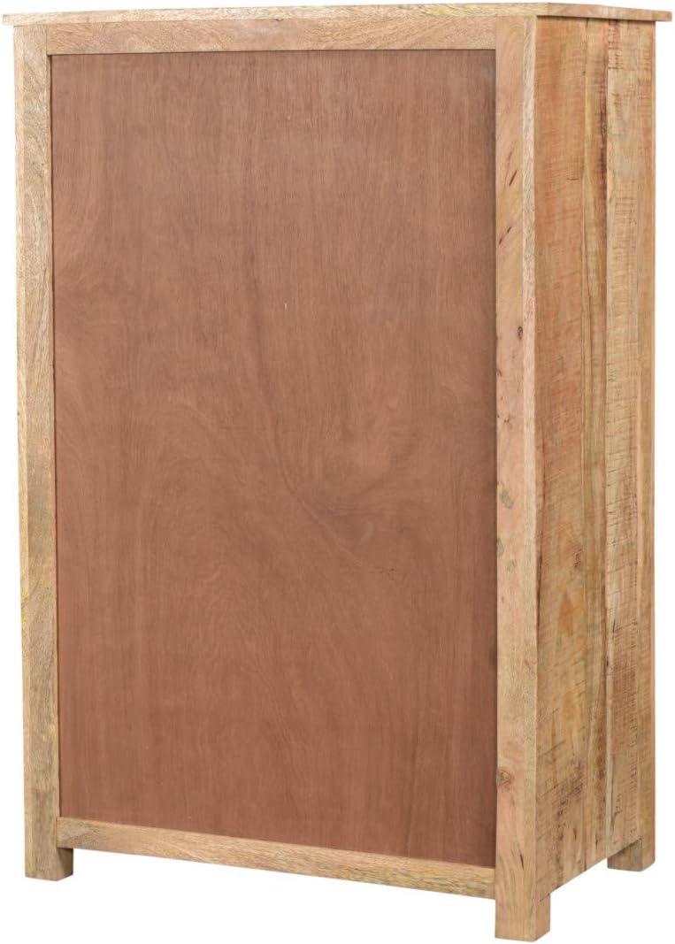 Woodkings® Highboard Pune Holz Natur braun Mango massiv ...
