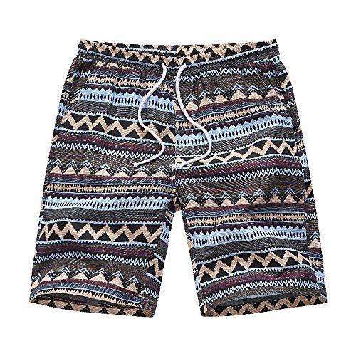 Preisvergleich Produktbild nobrand Herren Badebekleidung Shorts & Trunks Tropical Floral Printed Quick Dry Casual Strand Badeshorts Surfwear Shorts