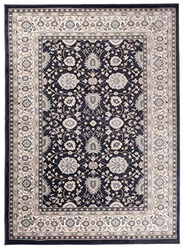 Carpeto Orientteppich Teppich Schwarz 200 x 300 cm Ornamente Muster Ayla Kollektion