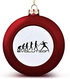 Christmas Ball Ornaments Javelin Track and Field Sport Evolution Art Hanging Ball Decorative for Christmas Trees,Holiday P...
