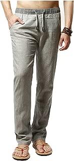 Men's Linen Comfortable Breathable Casual Pants Trousers